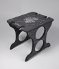 Charcoal Marble Wine Rack with Engraving