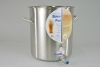 Pot, Stainless Steel Brew Pot. 42 quart with ball valve